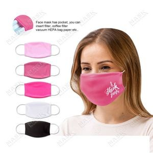 Pink Color Moisture Wicking Face Mask with Filter Pocket